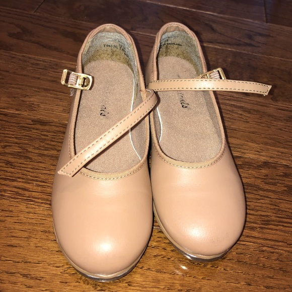 Theatricals Other - Theatricals girls tap dance shoes tan size 12